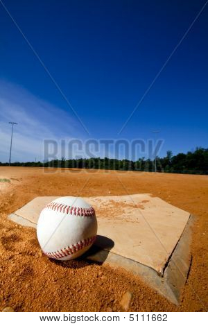 Baseball On Homeplate