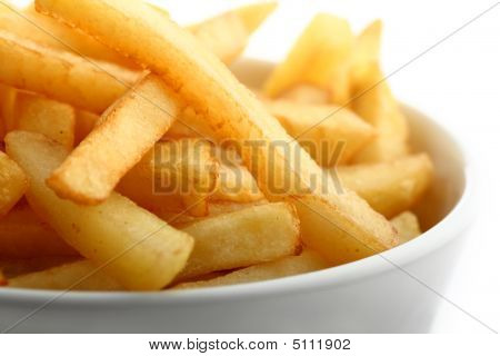 French Fries Detail Isolated On White