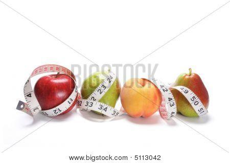 Tape Measure Around Fruits
