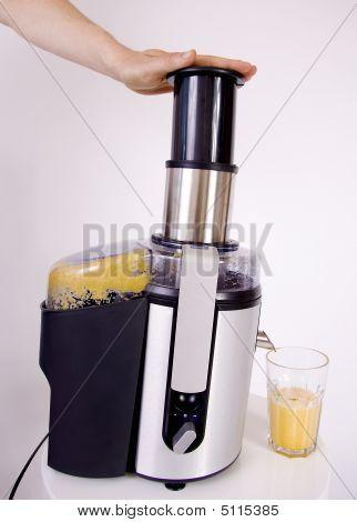 Juicer Making Orange Juice