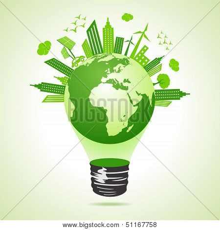 Ecology concept with bulb