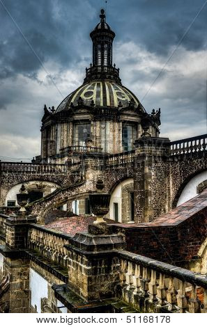 Cathedral Metropolitana, Mexico City, Roof View