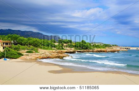 view of Cala de Sant Jordi in Ametlla de Mar, Catalonia, Spain