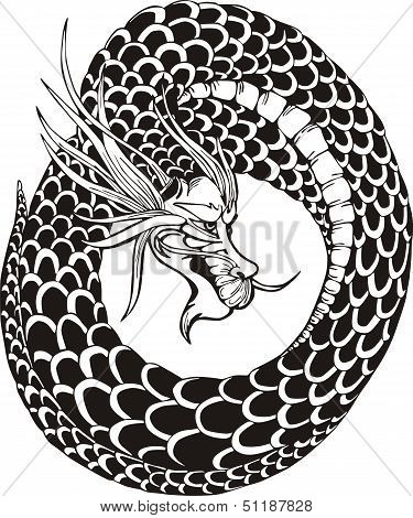 Oriental Dragon Circle