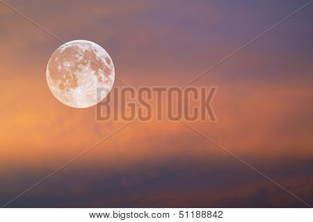 Moon In Red Sky