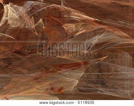 Grunge Random Fractal Pattern In Tan And Brown