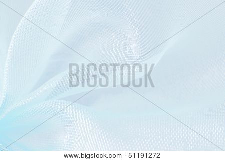 blue organza macro blurry texture background