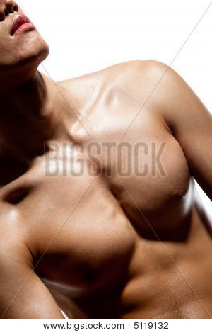 handsome young man with muscular body shape poster