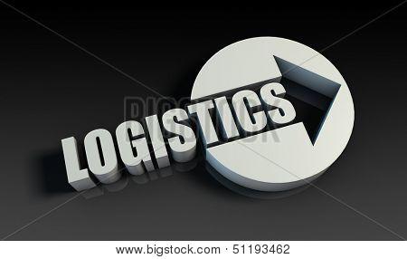 Logistics Concept With an Arrow Going Upwards 3D