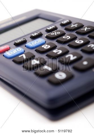 Blue Calculator, With Euro Conversion