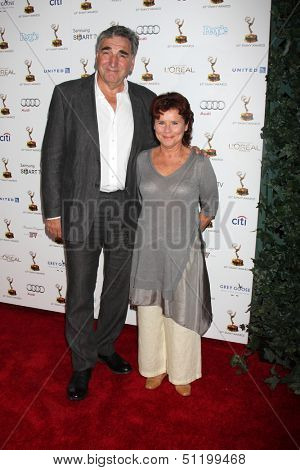 LOS ANGELES - SEP 20:  Jim Carter, Imelda Staunton at the Emmys Performers Nominee Reception at  Pacific Design Center on September 20, 2013 in West Hollywood, CA