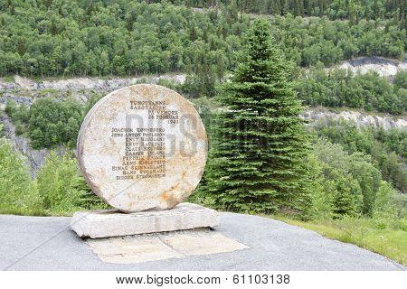 RJUKAN, NORWAY - JULY 07. Landmark of the sabotage 1943, on July 07, 2010 in Rjukan, Norway.