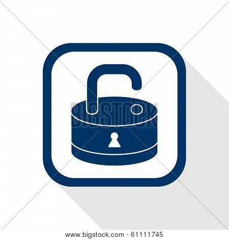 open lock flat icon
