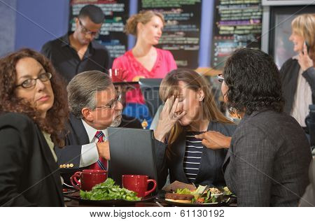 Disappointed Coworkers In Cafeteria