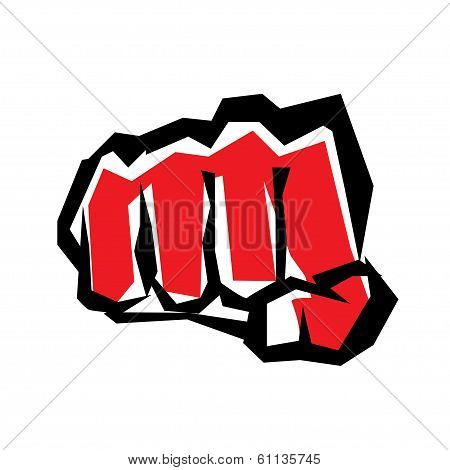 Fist Stylized Symbol, Revolution Concept