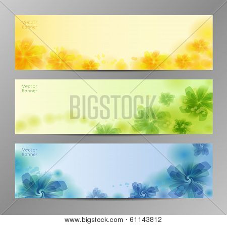 Abstract Flower Vector Background / Brochure Template / Banner. eps 10