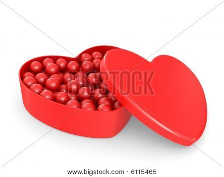 Box In The Form Of Heart