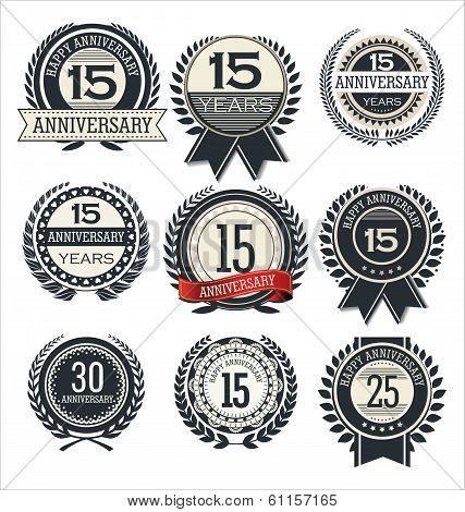 Premium quality retro design badges and labels