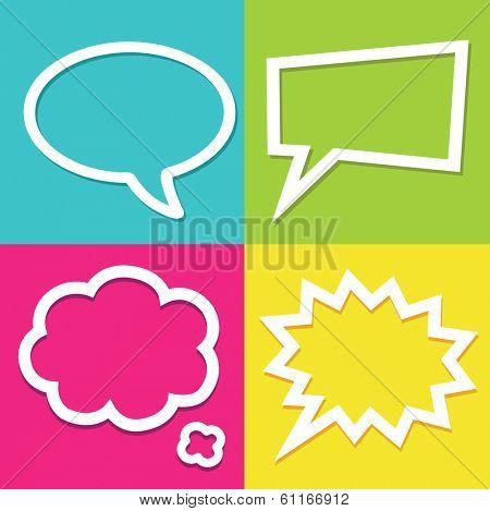 Set of dialog boxes