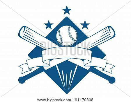 Championship or league baseball emblem