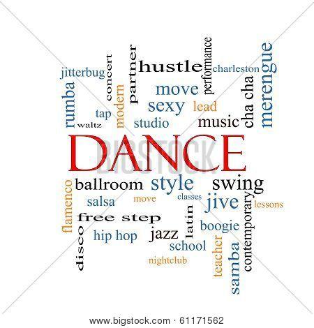 Dance Word Cloud Concept