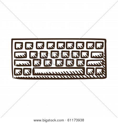 Computer keyboard symbol.