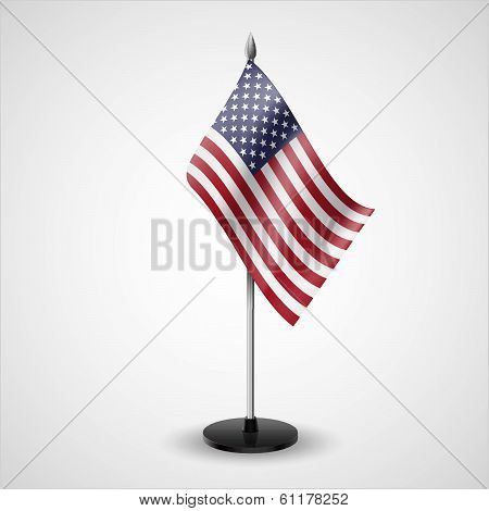 Table flag of USA