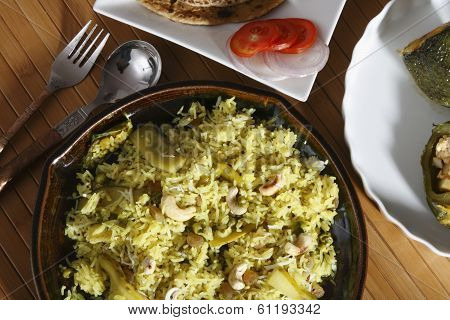 Masale Bhaat - A Spicy Maharashtrian Fried Rice
