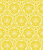 Vintage art deco pattern with curved lines, forms and shapes that creates a crochet look on yellow. Texture for print, wallpaper; wedding invitation background; spring, summer fashion; fabric, textile poster