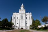 The St. George Utah Temple (formerly the St. George Temple) is the first temple completed by The Church of Jesus Christ of Latter-day Saints and is the oldest temple still actively used by the members of the Church. poster