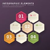 modern vector abstract hexagon option infographic elements poster