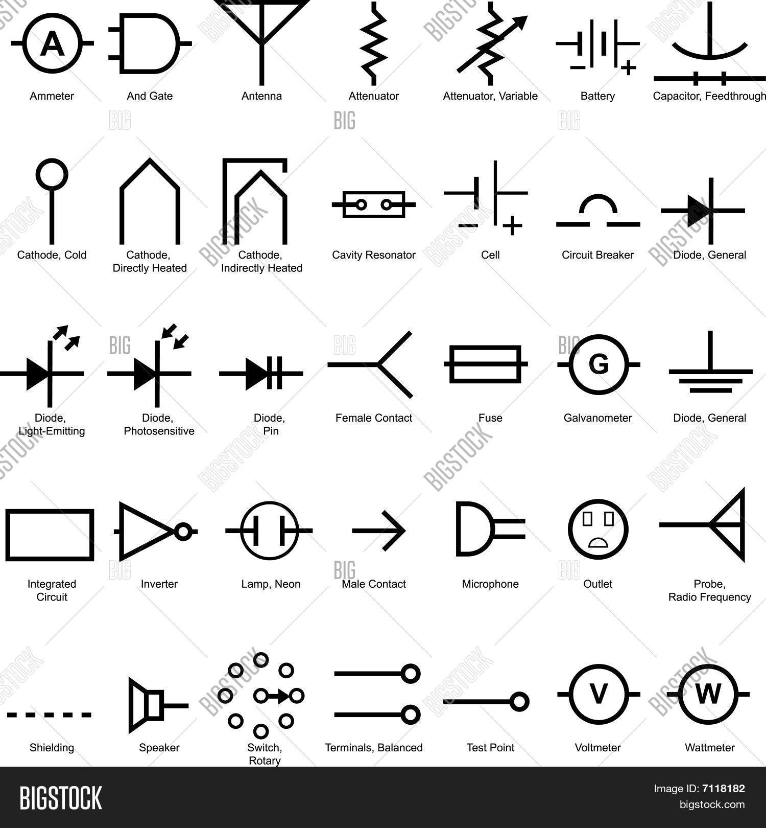 Vektorgrafik und Foto: Elektrischer Symbol Icon- | Bigstock