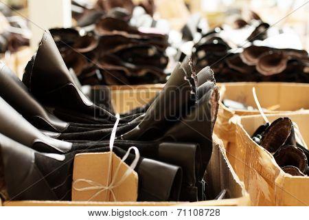 Rubber preforms for shoe production, close-up
