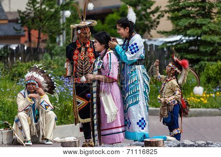 Blackfoot Native American Dancers