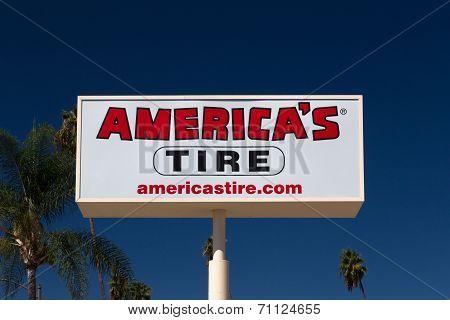 America's Tire Sign