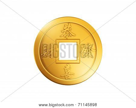 Chinese Gold Coin (Wishing you prosperity)