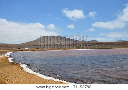 beautiful salinas at Sal island, Cape Verde poster