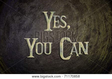 Yes You Can Concept