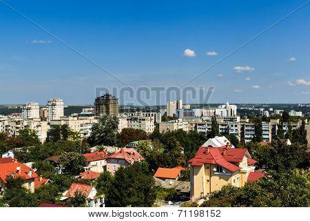 Aerial Landscape View Of Chisinau, Moldova.
