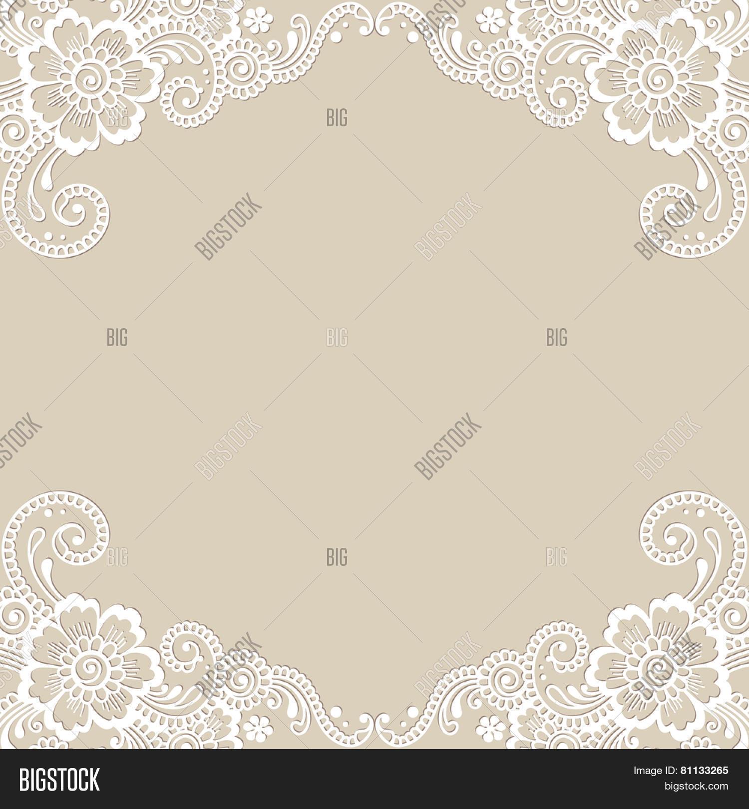 White Flower Frame Vector Photo Free Trial Bigstock