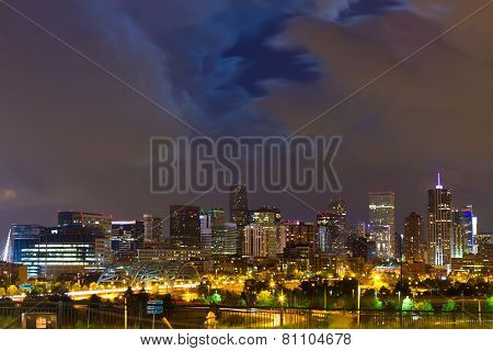 Denver Colorado Downtown Skyline