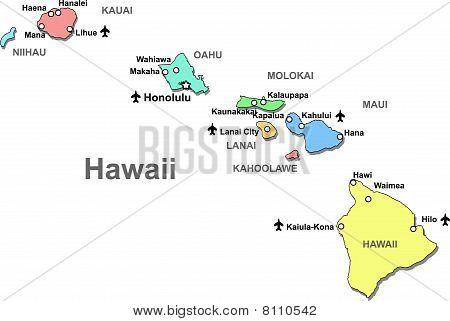 Havaii map