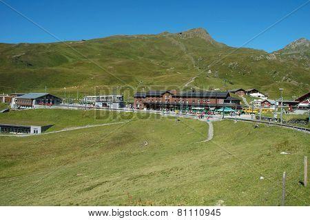 Railway Station In Kleine Scheidegg In Switzerland
