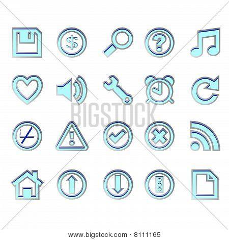 Web Blue Icons