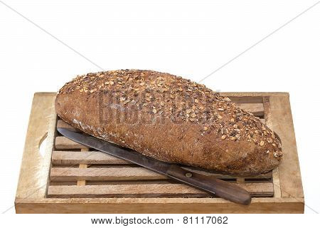 Whole Grain Bread On Board
