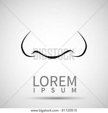 Vector Nose Icon Human White Body