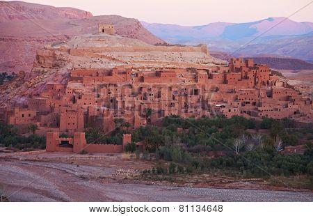 Ksar of Ait-Ben-Haddou at dawn, Morocco.