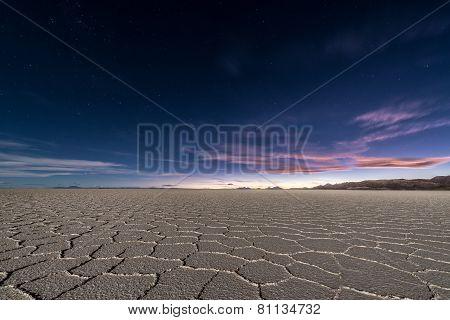 Uyuni Salt Flats At Night