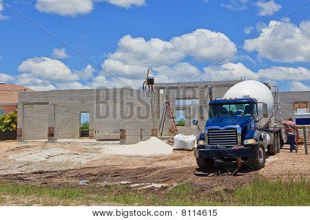 Cement Pour New Construction