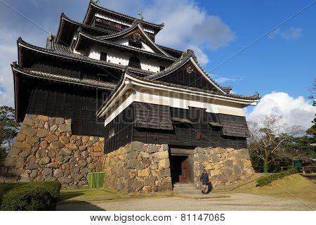 Tourist Visits Matsue Samurai Feudal Castle In Shimane Prefecture
